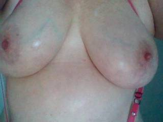 Wifes wet tits sent from her phone