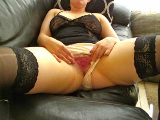 brilliant pic, delicious pussy and adorable peehole, I could bury my face in there and lick you to several orgasm, then push the tip of my tongue into your lovely peehole to help your orgasm along!