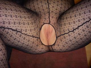 I wish a sexy lady would come and lick my pussy while I wear my crotchless body stocking.