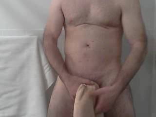 The vids are tease vids.  I have a hot bulge and I feel sexy when stroking it on camera.  Hope you enjoy