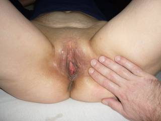 Nothing like the lovely sight of a freshly licked clean beautiful pussy!  Ready to start all over again....