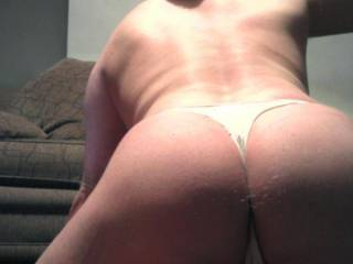 i look fit from behind with those knickers sliding up my ass