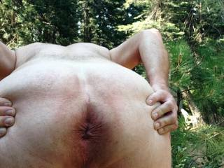 I was enjoying the great outdoors stretching my balls hope you like the view.