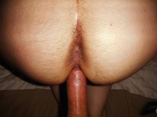 loved pulling almost fully from her, and seeing how wet my cock looked from her cumming.