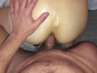 Getting my ass fucked by hubby again :)