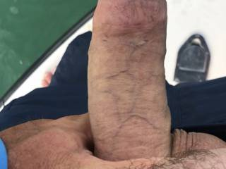 My husbands cock  He's always posting pics of me so it's my turn now!! Ladies what do You think Of his cock?