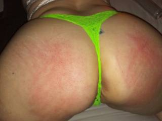 I love a good spanking. Gets me all wet. He liked making my big ass red