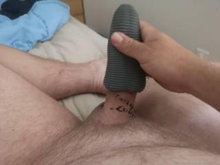 Stroking my small cock