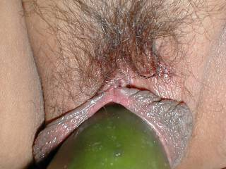 Good size, fits in the fucking horny pussy.