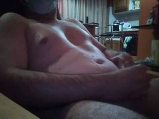 I caress my naked body naked and jerking! Huge cum! Lots of sperm!