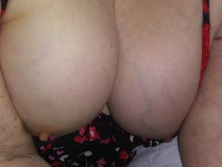 Would you like to put your cock between them and titty fuck me? But then what would I do with all that cum?