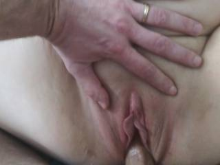 Can someone lick my clit while he fucks me?