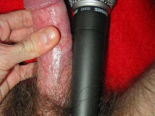 Fucking me is like having your pussy pounded with a full-sized Shure SM58 microphone, ball and all! Who wants to give it a sound check?
