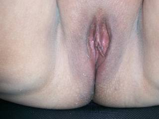 Pussy up close and very WET How would you like to use it to pleasure yourself?