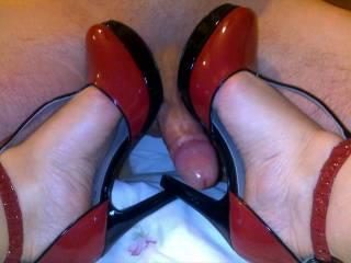 sexy heels footjob