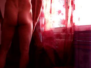 .....touching my body in the red light