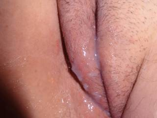 Slide my thick cock balls deep inside her cum filled pussy and make another deposit after a long eXXXplosive ride!!!