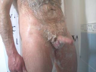 I would love to scrub and more that entire sexy hairy body of yours
