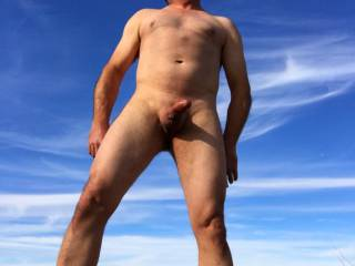 Loving being naked outdoors