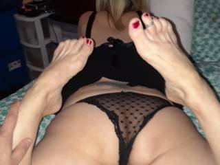 shortly after my wife was posing for the camera and I told her how irresistible she looked I ripped off her panties and ate her pussy and ass like a mad man and I will say she tastes so good -what do you all think?? you agree?? what would you do? details