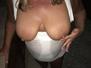 wife`s big tits and nipples