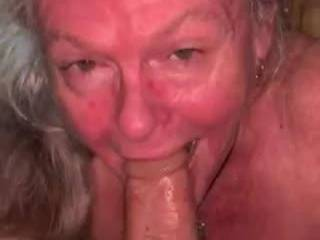 Surprised one of my cocks at lunch. I love swallowing and spitting all over his cock, taking him to his balls. And yes I did swallow his cum. Mmmmm tasty cum. Anyone else love the taste of cum?