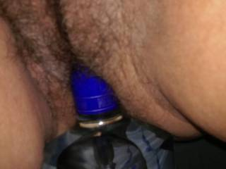 I got horny and couldn't wait to fuck so I started riding the bottle.