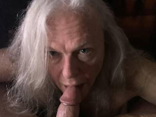 Look into my eyes as i swallow your cock.