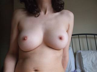 pic of my GF's tits, what would you like to do with them?