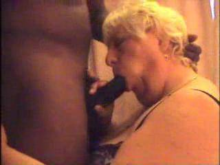 Wow, can't blame her for enjoying that huge handsome young cock, I'd love to have a go a it, too..
