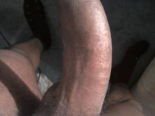 my 8 inch curvy big black uncircumcised dick