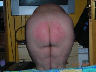 Oh fuck,.. I'm going to cum big time... what a beautifully spanked ass… Can I kiss it?