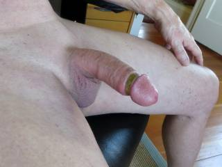 Ooooo, let me kneel between your legs and suck you off.  I bet you'll like that a lot better then jacking off.  I swallow too.  Mmmm that's such a delicious cock.  MILF K