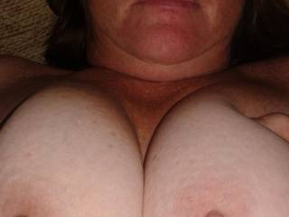 I'd love to cover your beautiful tits in my cum