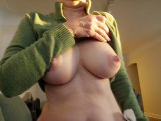 Perhaps I\'ll go without the bra today....think anyone will notice my nipples?