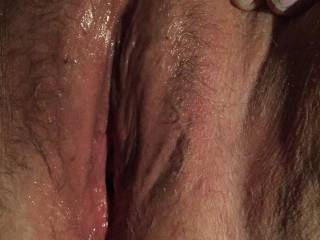 Freshly licked and ready for some hot dick!!