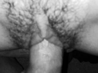 Making that hairy pussy cum
