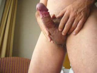 """This is the first time I masturbate in """"public"""". But it's a great feeling to show all of you, how good it feels wanking my cock. Anyway, I'm not ready yet to ejaculate in front of you."""