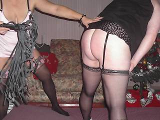 her  friend  spanking  the  wife