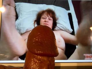 Ready, dear! Mrs. Shutterbug58 is loving bobaloo's cock. Why not? Mrs. S loves cock! (Have you seen her blowjob videos?) These are truly the gifts that Mrs. Shutterbug58 prefers to receive from friends. Where is your tribute for me?