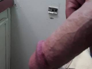 Flexing my soft cock the way  I do when a hot wife unzips me in front of her cuckold husband...