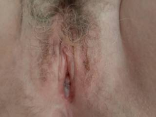Nice fucked hairy pussy,who\'s next for filling it?