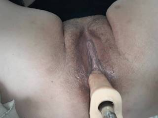 Had to fuck her with a bigger dildo! Wait til you see her cuz from THE MACHINE!  Would you want to see the machine fuck her ass?  Let us know!