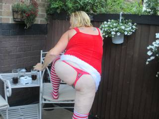 Outdoors dressed up ready to play should I pull my thong aside and flash my cunt? Love to hear your comments filthier the better Sandy xx
