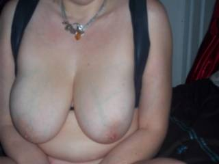 Wow, yes, absolutely gorgeous tits.   Would like to spend some time squeezing them and sucking on those great nipples...
