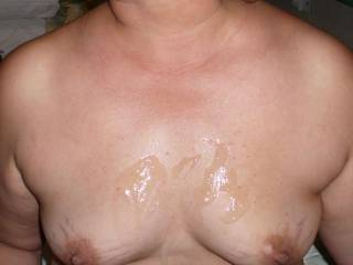 cum all over my tits