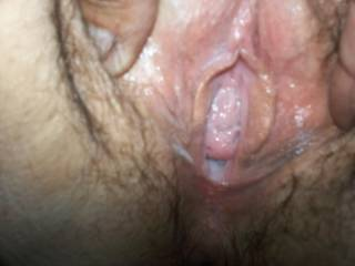 Look at her pussy. Its so creamy n wet. I love how she gets into things,