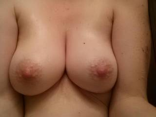 I can't seem to stop staring at your gorgeous tits...  and those nipples are just spectacular!