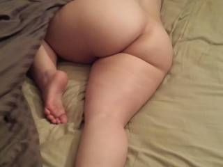This was the last thing I saw before I left for work this morning, Vixxxen snoozing on my bed. Wish I couldve tied her up to keep her there waiting til I get home. Just wanna get in her lil asshole right now. -Dddy
