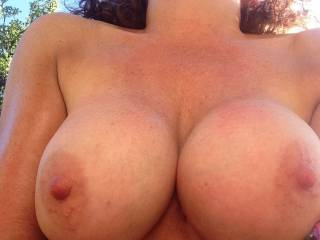 Mmm take my cock between those awesome huge tits and let me fuck them as you lick my helmet whilst I gently play with your fabulous nips xxx
